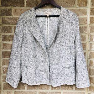 Loft Plus Size Tweed Marled Knit Jacket